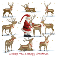 The dearest reindeer, front view of card