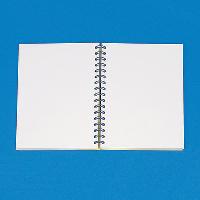 Open spiral-bound note pad