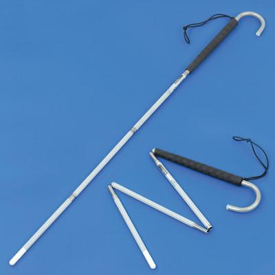 Aluminium crook handle folding long cane with a pencil tip