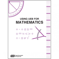 Using UEB for mathematics front cover