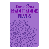 Front cover of Large Print Brain Training Puzzles book