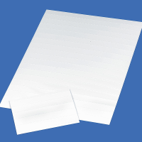 Notepaper and envelope writing guide placed on a sheet of paper