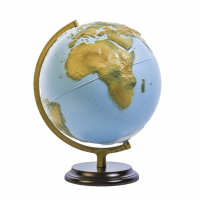 Front view tactile talking globe