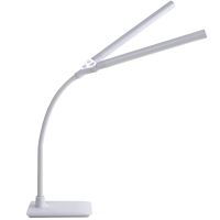 Lamp with the shades in a V-position