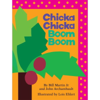 Front cover of Chicka Chicka Boom Boom showing a brightly drawn coconut tree