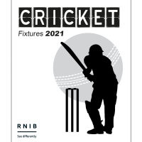 A white cover depicting the silhouette of a batsman