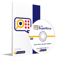 CD and box of Dolphin SuperNova screen reader