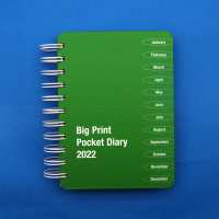 Front cover of Big Print pocket diary