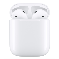 Apple AirPods with charging case.
