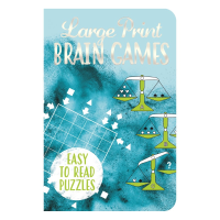 Front cover of Large Print Brain Games book