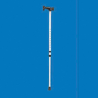 Full length adjustable walking stick