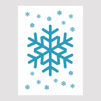 Tactile Snowflake Christmas Card, view of front of card