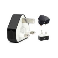 USB mains charger plug side view
