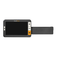 Explore 5 handheld video magnifier with blank screen and handle extended