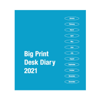 Front cover of  2021 Big Print desk diary