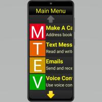 Screen of Synnaptic phone screen showing main menu