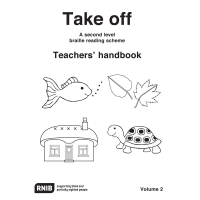 Front cover with a fish; leaves; cottage and tortoise illustrated