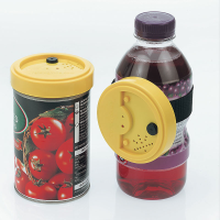 A magnetic voice recorder on a tin and a recorder attached to a bottle using the Velcro strap