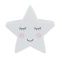 Star night light against a white background