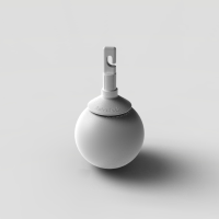 Hook style rolling ball tip for canes