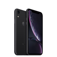 Black Apple iPhone XR 128GB front and back of phone shown