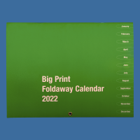 Front cover of Big Print foldaway calendar
