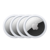Four Apple AirTag discs