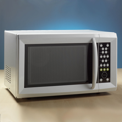 Front of microwave oven