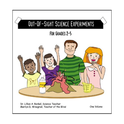 Front cover featuring a smiling boy, girl, man and a woman conducting an experiment