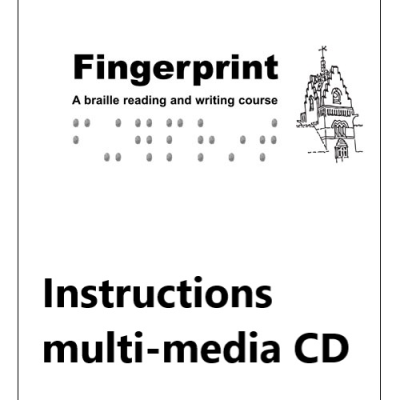 Front case for fingerprint instructional text multimedia CD