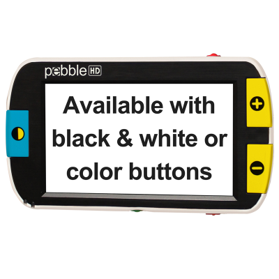 Large font displayed on screen of the Pebble HD 4.3 Inch magnifier