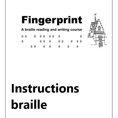 Front cover for fingerprint instructional text G2 UEB (MTO)