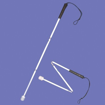 Child's aluminium cane 70cm in white