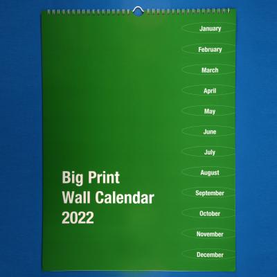 Front cover of Big Print wall calendar