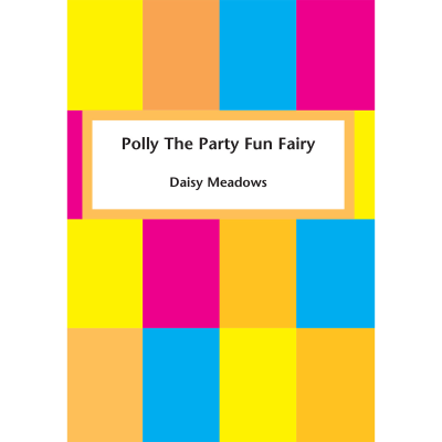 Multi-coloured squares with title and author.