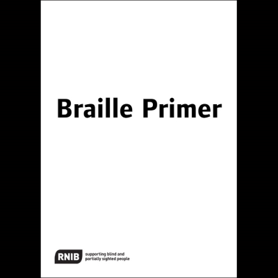 Front cover Braille Primer for Standard English Braille