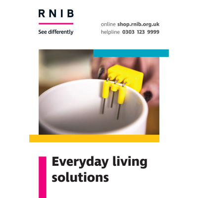Front cover of the everyday living solutions booklet