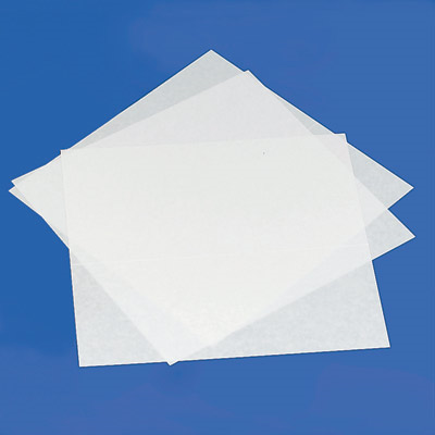 Four clear Perkins-size labeling sheets