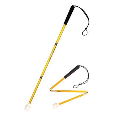 Child's aluminium cane 70cm in yellow