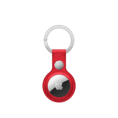 Apple AirTag leather keyring in (PRODUCT) Red