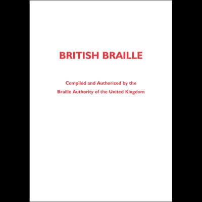 British Braille front cover