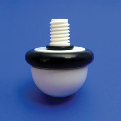 Thread style ceramic tip for canes