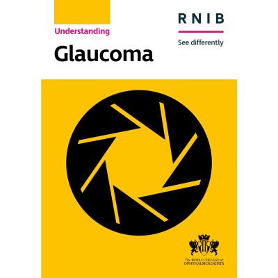 Glaucoma booklet front cover