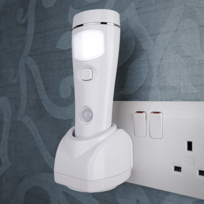 Front view of NiteSafe safety sensor nightlight & torch against a white background