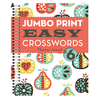Brightly coloured front cover with fruit illustrations