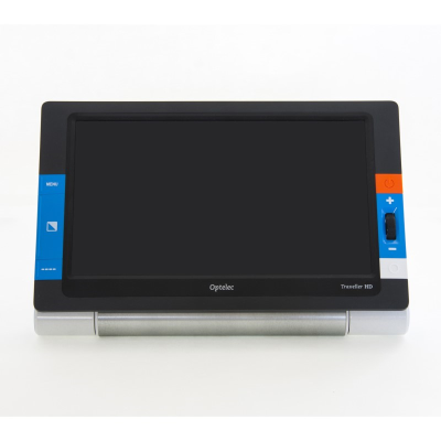 Front facing Traveller HD portable video magnifier with blank screen