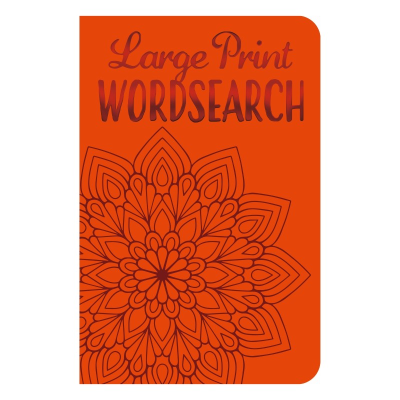 Front cover of Large Print Wordsearch book