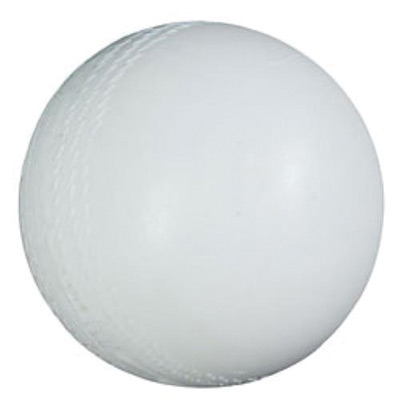 Audible cricket ball made from white plastic
