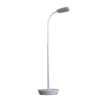 Lamp in upright position against a white background