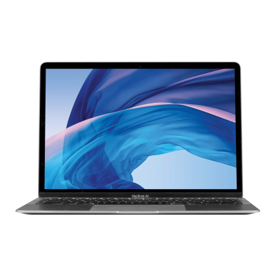 Space Grey MacBook Air 512GB open showing screen